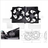 Electroventilator auto Thermotec - Ventilator radiator motor Ford Focus 1.4 16V 10.98-11.04