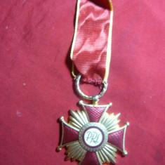 Crucea de Merit PRL Polonia, cl.I, aurit, panglica noua - Ordin