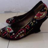 Pantofi cu platforma - Pantof dama, Marime: 37, Culoare: Negru
