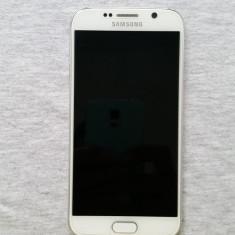 Vand Samsung Galaxy S6, 32Gb, Alb, stare foarte buna - Telefon mobil Samsung Galaxy S6, Neblocat
