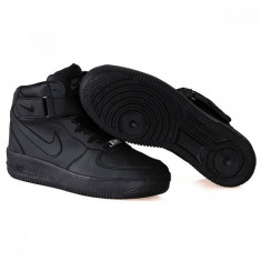 Ghete Nike Air Force - Ghete barbati Nike, Marime: 36, 37, 38, 39, 40, 41, 42, 43, 44, Culoare: Negru, Piele sintetica