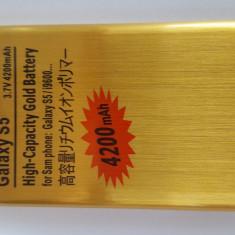 Gold Acumulator 4200 mha for G900f galaxy s54 White Diamonds, Samsung Galaxy S5, Li-ion