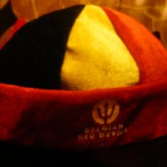 Boneta suporter al Echipei Fotbal a Belgiei Belgian Red Devils - Sepca/Palarie
