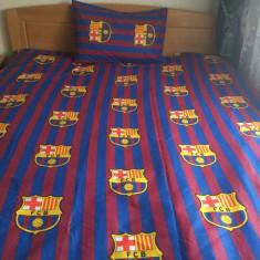 Lenjerii de pat copii FC Barcelona 140x210 - Lenjerie pat copii Altele, Alte dimensiuni, Multicolor