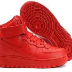 Ghete Nike Dama Air Force Rosu - Ghete dama Nike, Marime: 36, 37, 38, 39, 40, 41, 42, 43, 44, Culoare: Din imagine, Piele sintetica
