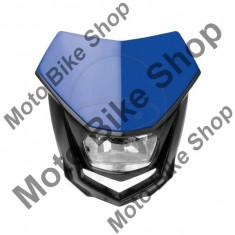MBS Carena + far Polisport Halo, albastru, 12V 35/35W Halogen, Cod Produs: 7168917MA - Far Moto