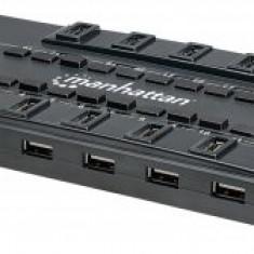 Manhattan Hub USB MondoHub, 28 porturi, 24 x USB 2.0; 4 x USB 3.0 - Adaptor interfata PC