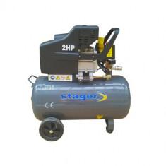 STAGER Compresor aer HM2050B/50L, 50 l, 8bar - Compresor electric