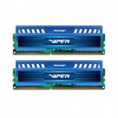 Memorie Patriot Viper 3 Sapphire Blue, 2x8 GB DDR3, 1600 MHz, CL 9, dual channel, albastru - Memorie RAM