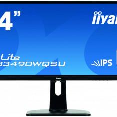 Monitor LED Iiyama ProLite XUB3490WQSU-B1, 34 inch, 21:9, 5 ms, negru