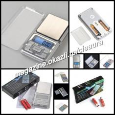 CANTAR ELECTRONIC BUZUNAR BIJUTERII MONEDE GEN TELEFON MOBIL PRECIZIE 0, 1-500g - Cantar bijuterii