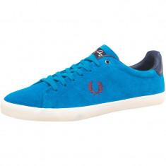 Adidasi Pantofi casual FRED PERRY ORIGINALI masura 36 din piele - Adidasi dama, Culoare: Albastru, Piele intoarsa