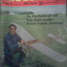 Aero Modeller ian. 1975 revista in lb.eng. De Havilland DH 9A free-flight design - Aeromodelism