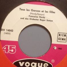 FRANCOISE HARDY - TOUS LES GARCON(1963/VOGUE/FRANCE) - VINIL/