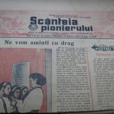 Scinteia pionierului (16 aprilie 1955) - Revista vintage