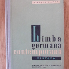 LIMBA GERMANA CONTEMPORANA- sintaxa- EMILIA SAVIN- cartonata - Curs Limba Germana Altele