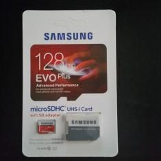 Card Samsung EvoPlus 128 GB micro SDHC UHS-I, Nou + adaptor SD, Nou - Card memorie