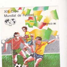 Colita neuzae XIII CAMPIONAT MONDIAL FODBAL Emis de Barasilia MEXICO 88 - Timbru de Automat