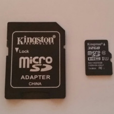 Card de memorie micro SD 32 GB Kingston + adaptor SD - Card Micro SD