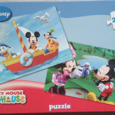 Set 2 Puzzle Altele Mickey Mouse Club House, 2x48, Disney, 4-6 ani, Carton, 2D (plan), Unisex