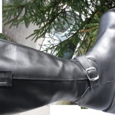 Cizme barbati Aldo piele naturala ITALIA nr.40 NOI, Culoare: Negru