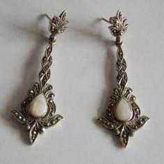 Cercei de argint cu sidef - Cercei argint