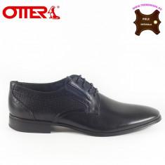 Pantofi barbati piele naturala OTTER negru (Marime: 44)