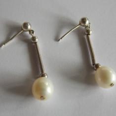 Cercei de argint cu perle naturale - Cercei perla