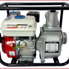 Motopompa/Benzina - KRAFTECH - 3 TOLI - 6, 5CP - Debit:60m3/ora - Pompa gradina, Motopompe