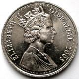 BRITISH GIBRALTAR, 10 PENCE 2007, The Great Siege, 1779-1793, DIAMETRU 25mm., Europa, An: 2005, Crom