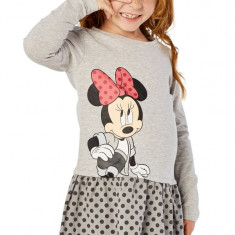 Rochie fete 4-10 ani - Minnie - art. 139290 gri, buline gri inchis, Marime: Alta
