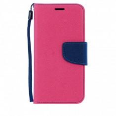Husa piele Samsung Galaxy S6 Fancy Book roz - Husa Telefon