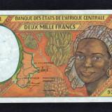 Africa Centrala Gabon 2000 Francs [3] 1993-00 P#403L - bancnota africa