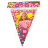 Banner stegulete Barbie Flowers - Decoratiuni petreceri copii