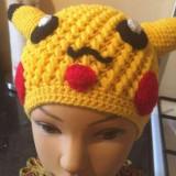 Caciuli crosetate pikachu - Caciula Copii, Culoare: Din imagine, Marime: Marime universala