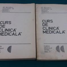 CURS DE CLINICĂ MEDICALĂ/ 2 VOL/ ANUL V/ V. POMPILIAN/ 1976 - Curs Medicina