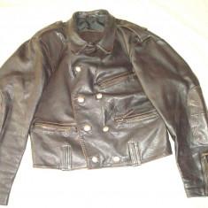 Geaca din piele, barbati, MAURITIUS model german/vintage/colectie/moto/motor - Geaca barbati, Marime: M, Culoare: Din imagine
