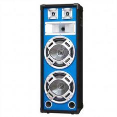 Skytec subwoofer 2x20cm LED efect albastru 600W