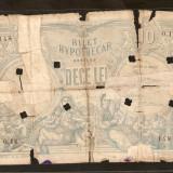 1 BYLET HYPOTECAR 10 LEI 1877 PERFORAT