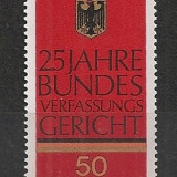 Germania.1976 25 ani Curtea Constitutionala Federala SG.345 - Timbre straine, Nestampilat