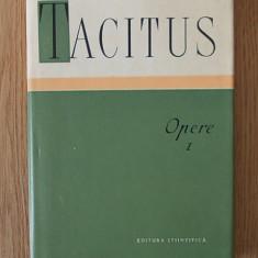 TACITUS- OPERE- cartonata, supracoperta, vol I - Istorie