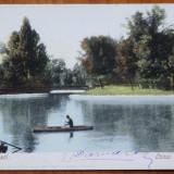 Bucuresti, Lacul Cismigiu, circulata, 1901 la Roma - Carte Postala Muntenia pana la 1904, Printata