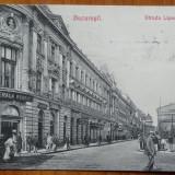 Bucuresti, Strada Lipscani, circulata, 1909 - Carte Postala Muntenia 1904-1918, Printata