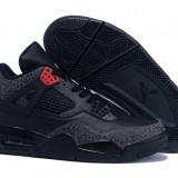 Air Jordan Retro 4 Low Black Gray - Adidasi barbati Nike, Marime: 40, 41, 42, 43, 45, 46, Culoare: Din imagine