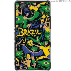 Husa Protectie Spate Muvit SEPRBKCZ1CP1013 MFX Carnaval Brazilia pentru Sony Xperia Z1 Compact - Husa Telefon