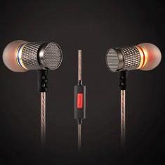 Casti Audio KZ-ED1 Entusiast Bass Microfon ORIGINALE 100% pt Samsung iPhone Sony, Casti In Ear, Cu fir, Jack 3, 5mm, Active Noise Cancelling