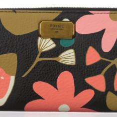 Fossil Emerson L Zip floral portofel dama nou 100% original. Livrare rapida., Culoare: Multicolor, Clasic