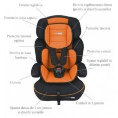 Scaun auto 9-36 kg FreeMove Orange BabyGo - Scaun auto copii grupa 1-3 ani (9-36 kg)