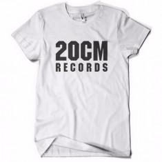 Tricou 20 CM RECORDS PARAZITII 20CM rap hip hop pe spate Parazitii - Tricou barbati, Marime: M, Culoare: Alb