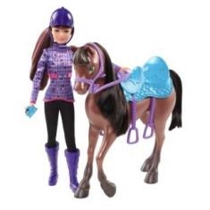 Papusa Barbie si surorile ei - Skipper si calutul Mattel, Plastic